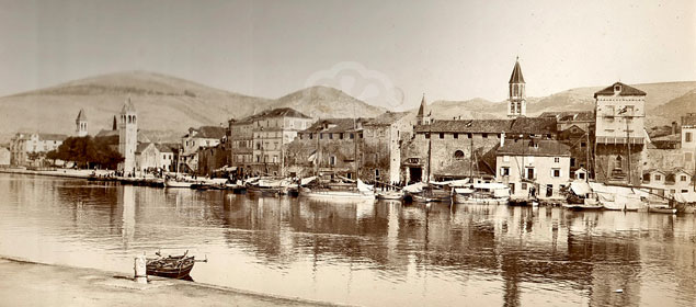 Seafront view of Trogir - history